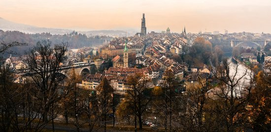 Rose Garden (Rosengarten): View of Bern Old Town from Rosengarten