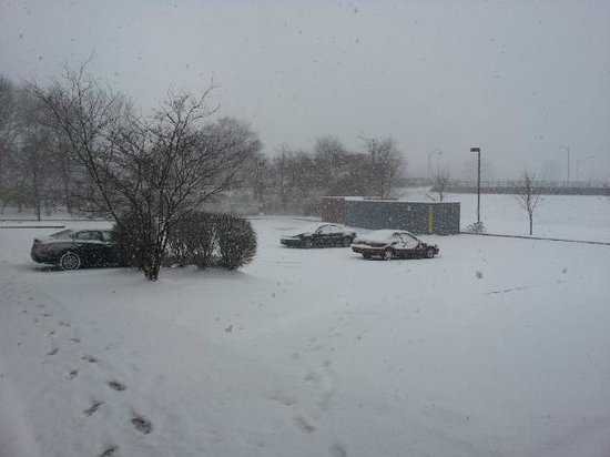 Holiday Inn Express Olean: View from the back parking lot