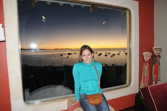 Hotel Rosario Lago Titicaca: Vue du lake.