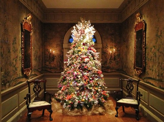 Winterthur's famous dried flower Christmas tree - Picture of ...