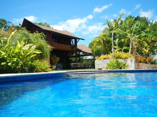 Pousada Mangabeiras : Restaurante visto da piscina