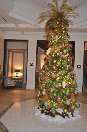 the st regis bahia beach resort puerto rico christmas tree in plantation house