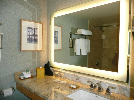 Hilton Denver Inverness : Nice vanity area in bathroom.