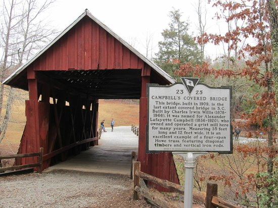 Campbell's Covered Bridge: Rear view with historic marker