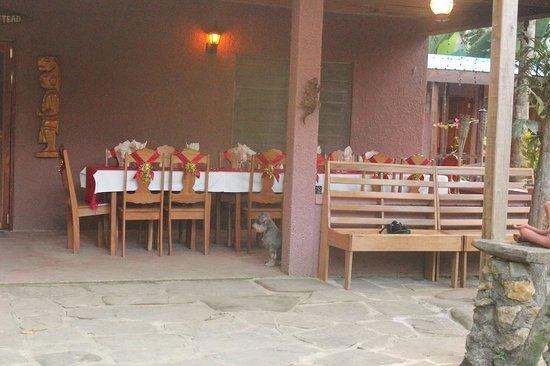 The Farm Inn: Dinner table