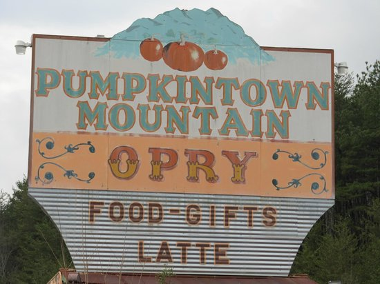 Pumpkintown Opry: The sign out front