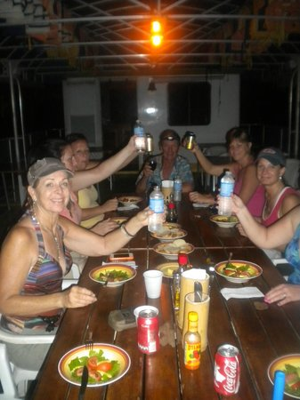 Jungle Land Panama Floating Lodge: cheers to a great night...