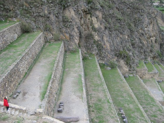 Archaeological Park Ollantaytambo: These terraced walls are steep!