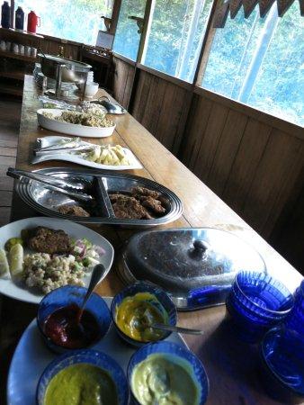 Muyuna Amazon Lodge: Buffet en el almuerzo