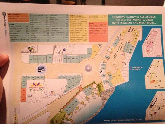 Renaissance Hotel Map Picture of Renaissance Curacao Resort