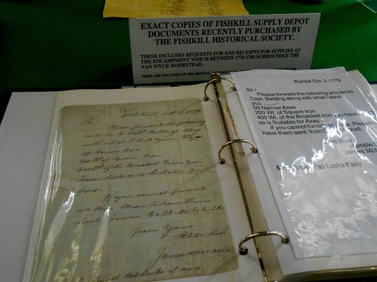 Van Wyck Homestead Museum: Book with copies of the war depot documents