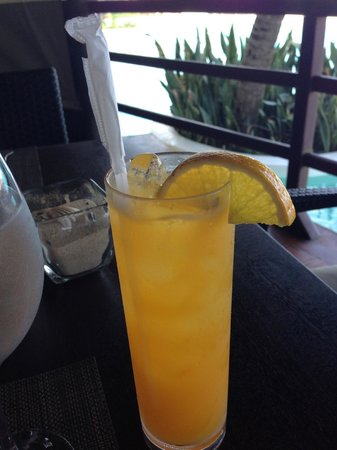 Zoetry Agua Punta Cana: Passion fruit juice