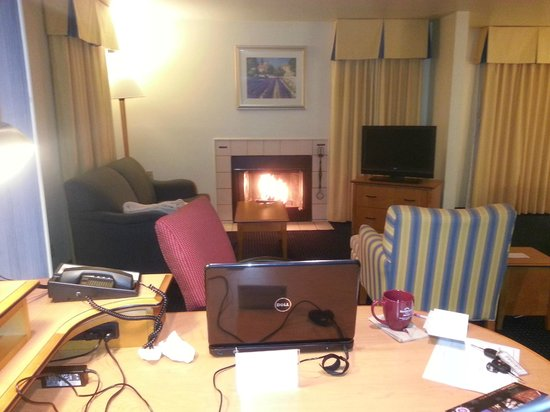 Suites at Northshore: Blazing Fireplace - Nice & Warm (Room 114)