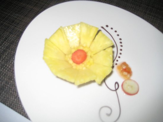 Zoetry Agua Punta Cana: Pineapple tart
