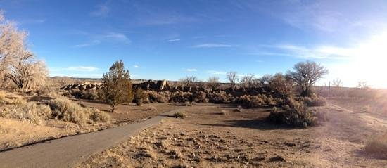 Aztec Ruins National Monument: Panorama of Aztec Ruins NM