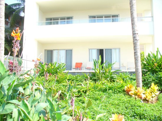 Now Amber Puerto Vallarta: View of our room from grounds