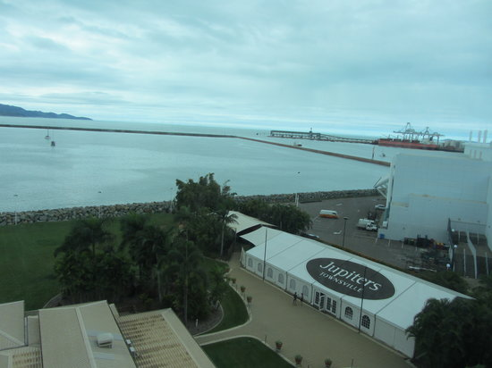 The Ville Resort-Casino: View from our room of the Port entrance