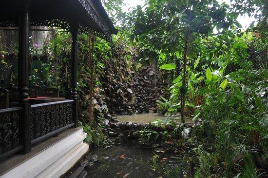 Bungalows Guesthouse: terrasse à gauche où l'on peut manger