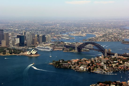 Blue Sky Helicopters: Sydney Harbour from high up