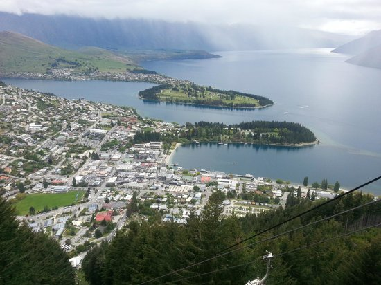 Skyline Queenstown - Gondola & Luge: View from up the top of the Restaurant