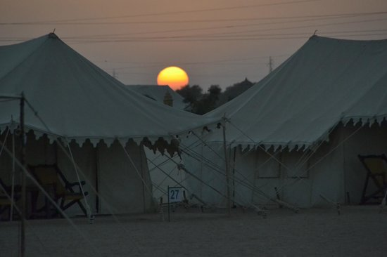 Camp Oasis India : Sunset from the camps