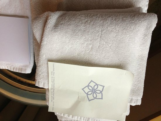 The Grand New Delhi: FILTHY TOWELS SERVED TO OUR BATHROOM