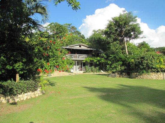 La Casa De Don David: De tuin en de veranda van het restaurant