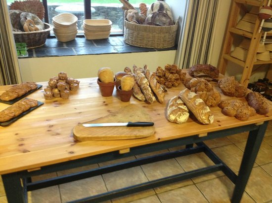 Heir Island: Some of the breads made on the day