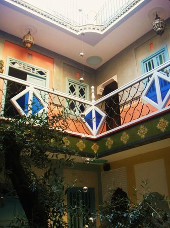 Riad Aicha: View from ground floor
