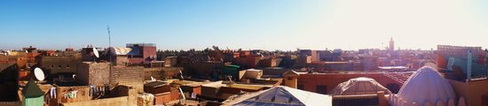 Riad Aicha Marrakech: View from rooftop