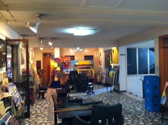 Sangam Restaurant: lots of local artists on display