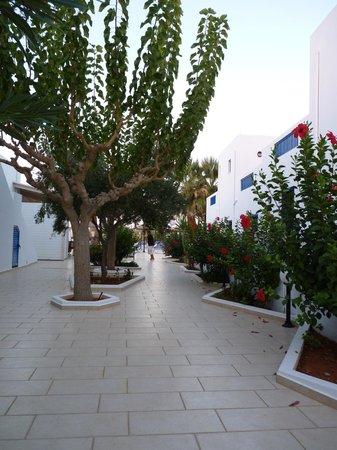 Hara Ilios Hotel: Allée entre bâiments