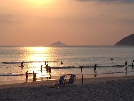 Praia de Maresias: e o incrível por-do-sol