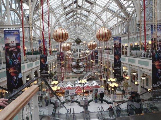 St. Stephen's Green Shopping Centre: View from above