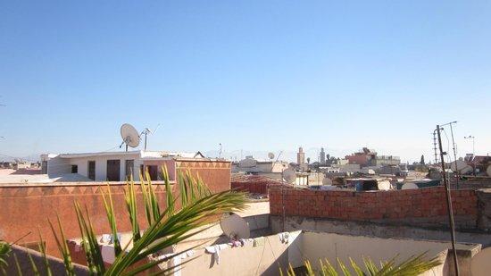 Riad Dar Dialkoum: Ein Blick von der wunderbaren Dachterrasse