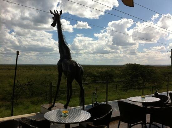 Ole Sereni: View from the bar terrace.