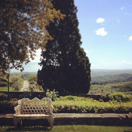 Tenuta di Artimino: view from breakfast/afternoon tea..