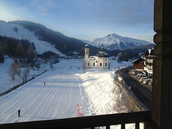 Hotel Wetterstein: View from the room in the 3 floor.