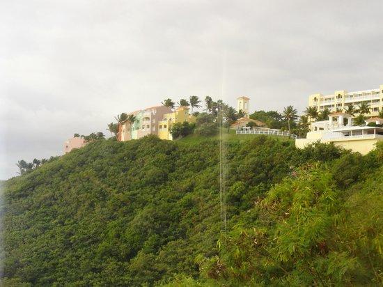 Las Casitas Village, A Waldorf Astoria Resort: View from tram ride down mountainside to marina