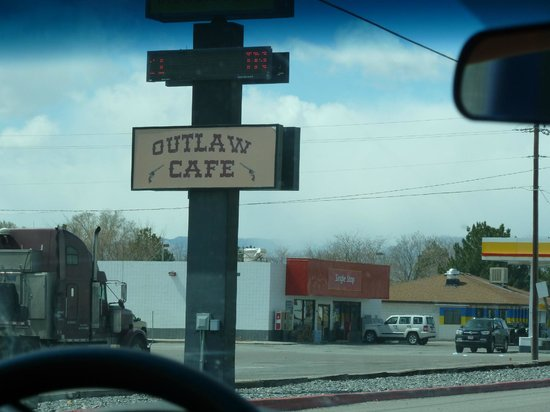 Outlaw Cafe Sign from the road
