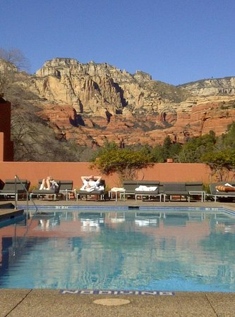 Enchantment Resort: The view from the hot tub and Mi Amo Spa