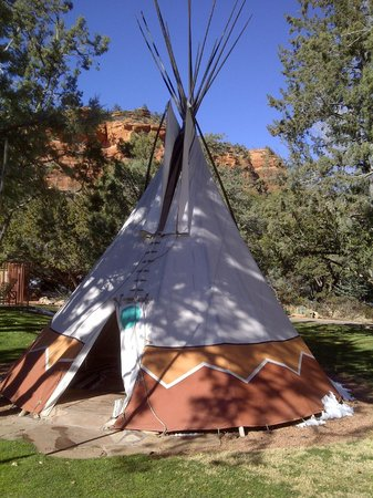 Enchantment Resort: On site Teepee