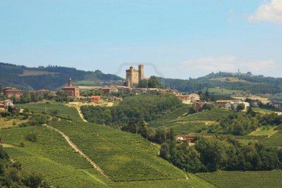 Serralunga d'Alba Castle: colline attorno al castello