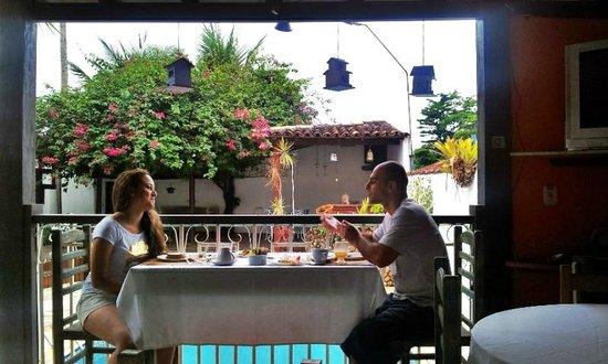 Pousada Aldeia Paratii : Café da manhã com visual