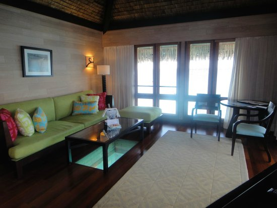 The St. Regis Bora Bora Resort: Suite living room