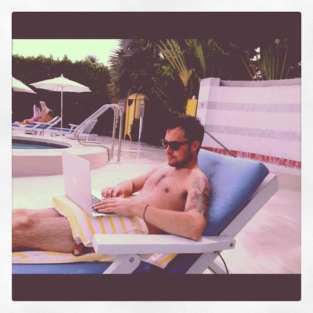 The Standard, Miami: Morning pool side doing some work
