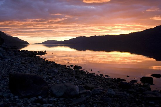 Loch Ness Highland Lodges: Sunrise view from lodge