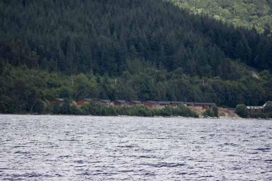Loch Ness Highland Lodges: View of lodges from the loch