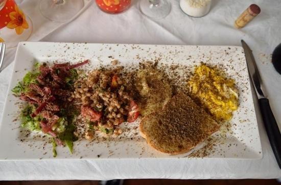 Osteria del Tempo Perso: antipasto a base di tartufo