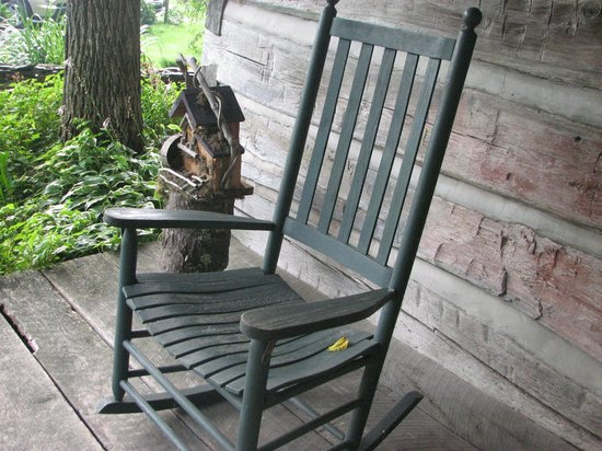 The Mast Farm Inn: The rocker on the front porch